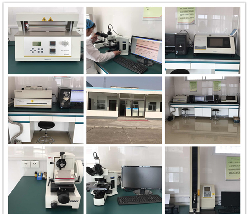 Coextruded thermoforming film testing center